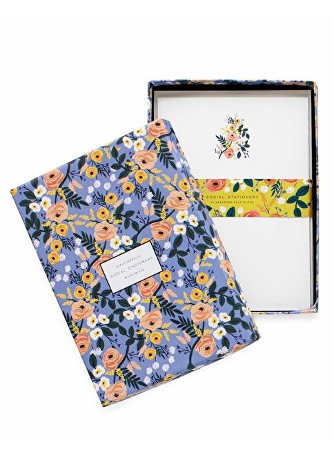 Rifle Paper Co. Violet Floral Tebrik Kartı&Zarf Seti Renkli